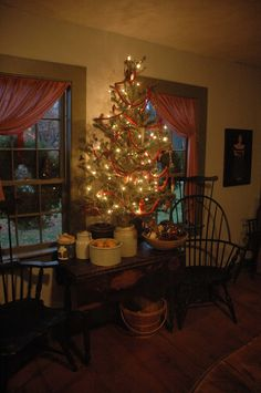 Christmas tree in the dining room last year.
