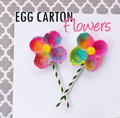 Egg Carton Flowers // For more family resources visit www.tots-tweens.com! :)