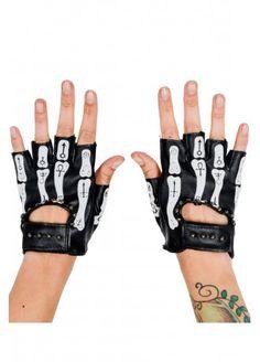 Rat Baby Occult Bones Biker Gloves 6d2ab08f141