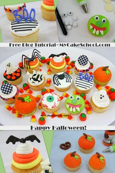 Learn to Make these CUTE Halloween Cupcakes in MyCakeSchool.com's free blog tutorial!