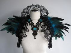 This feathery thing by Ravennixe on Etsy reminds me of the druid tier 11 shoulders in World of Warcraft.