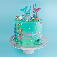 My next Mermaid cake this one was for Lolas special Mermaid birthday party - Kuchen Mermaid Birthday Cakes, Little Mermaid Cakes, Birthday Cake Girls, Birthday Parties, Birthday Cake Disney, Girls 1st Birthday Cake, 12th Birthday Party Ideas, Mermaid Party Food, Little Girl Cakes