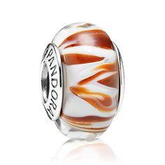 Pandora Siberian Tiger Murano Glass