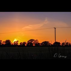 A photo of a sunset taken in a nearby field. Available for sale as a print on my website. Sunset Photography, Time Of The Year, Skyline, Clouds, Website, Park, Digital, Poster, Outdoor