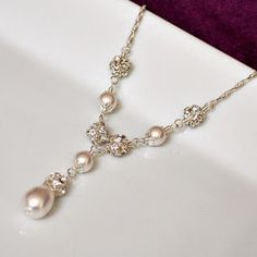 Pearl bridal necklace.