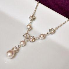 Pearl bridal necklace.