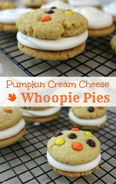 Easy Pumpkin Whoopie Pies with Cream Cheese Filling! Click the image to learn how to make these super easy and delicious pumpkin whoopie pies. #SweetSquad