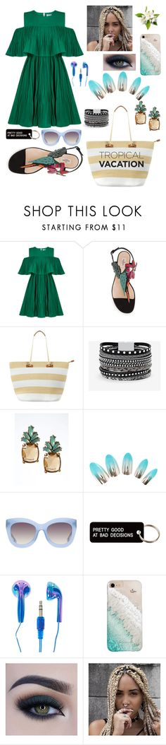 """""""tropical vacantion"""" by selena-aisy ❤ liked on Polyvore featuring Jovonna, Phase Eight, White House Black Market, Banana Republic, Alice + Olivia, Various Projects, Gray Malin and Too Faced Cosmetics"""