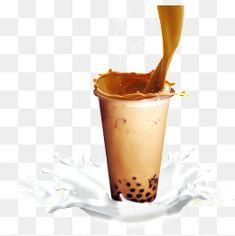 버블티,우유,컵,진주 밀크티,음료 Bubble Tea, Milk Tea, Paper Background, Lego, Bubbles, Paintings, Glass, Wall, Poster