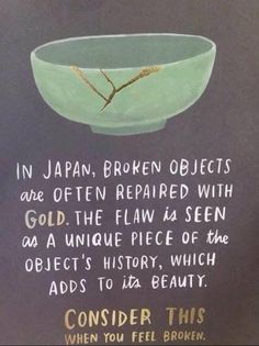 The little broken bits are the most beautiful...because they make us who we are, they make us unique, they make us precious...it's the flaws that make us because the darkest times failed to break us.