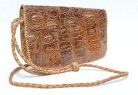 Lovely Bohemian Style 1960's Hornback Crocodile Skin CROSS BODY Shoulder Bag
