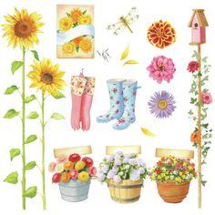 Leading Illustration & Publishing Agency based in London, New York & Marbella. Illustration Noel, Garden Illustration, Garden Drawing, Garden Art, September Art, Greeting Card Companies, Image Deco, Homemade Stickers, Clip Art