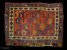 Afshar Boteh Size: 79x58cm (2.6x1.9ft) Natural colors, full pile, made in circa 1910