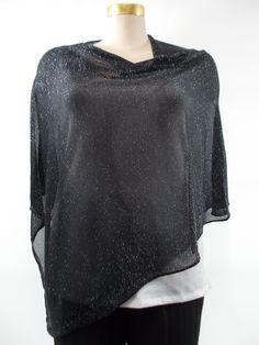 09871a265a Habitat - Black Converted Knit Shawl