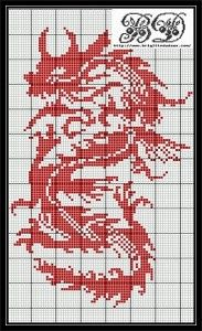 Dragon Cross Stitch Pattern · Cross-Stitch   CraftGossip.com