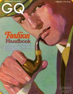 Gq Cover Of An Illustration Of A Man Smoking Pipe Art Print by Alex Gnidziejko Mens Fashion Magazine, Gq Fashion, Gq Magazine Covers, Magazine Stand, Magazine Art, Man Smoking, Pipe Smoking, Thing 1, The New Yorker