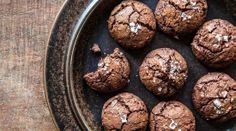 Tartine's Salted Chocolate Rye Cookies. Densely chocolaty, with crackly tops, there ain't no hippie in these rye flour cookies from Tartine's Chad Robertson. Chocolate Day, Salted Chocolate, Chocolate Cookies, Chocolate Recipes, Chocolate Muffins, Chef Recipes, Sweet Recipes, Cookie Recipes, Dessert Recipes