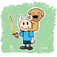 Jake & Finn by James Ramos / Ramos art  #art #drawing #sketch #fun #retro #vintage #Jake #Finn #AdventureTime #RamosART #BFFs #BestFuzzyFriends #BoyandhisDog #bestFriends #Buddies #dog #cute #geeky #playful #mansBestFriend #forTank #theBestDog #bestFriend #CN #CartoonNetwork #boy #puppy #sketchaday #childrensbookart #childrensbookillustration #childrensbook
