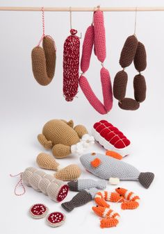 Crocheted play food