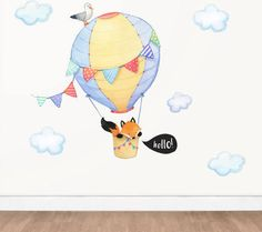 fox nursery decal