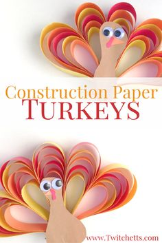 How to make an easy 3D construction paper turkey craft