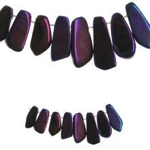 Bead Gallery Dyed Agate Stone Beads, Purple