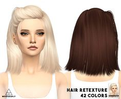 Miss Paraply: Skysims hairstyle retextured for Sims 4