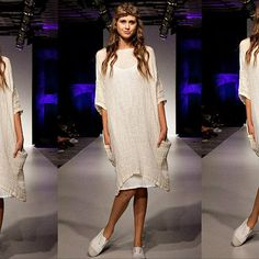 This oversized dress is made from light weight linen gauze, in a luxurious buttery cream colour. The fabric drapes beautifully, while the double stitching and side pockets make it as practical as it is beautiful. This dress can go from beach to dinner with simple elegance. Measurements Bust 64 inches Length 38 inches Free Shipping within Australia International Shipping $14 USD Return Policy, if you dont love it, return it for a full refund.