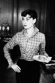 Audrey Hepburn Black and White photo.