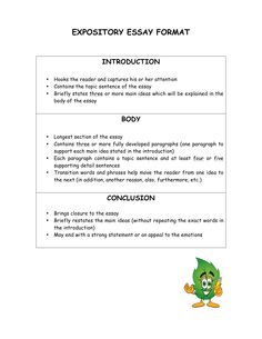 this template is meant for students to use when interviewing each  expository essay format