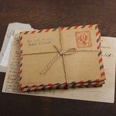 mini Airmail Kraft Envelopes - ITALY (10 sheets). $2,60, via Etsy.