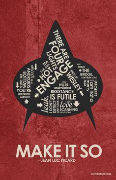 Star Trek : The Next Generation Quote Poster por OutNerdMe en Etsy