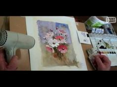 How to paint flowers in watercolor - Painting Lesson 1 (for grade 5 and older