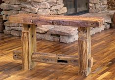 rustic furniture | Rocky Mountain Sofa Table | Rustic Furniture Mall by Timber Creek