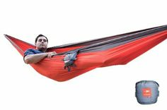 Amazon.com: Kammok Roo Hammock, Roo Red/Stone Gray: Sports & Outdoors