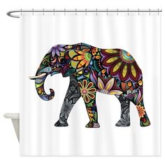 Colorful Elephant Shower Curtain on CafePress.com
