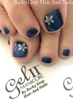 #gelii #pedicure midnight blue #gel_two #nailart #manicure #moyoulondon #showscratch #scratchmagazine