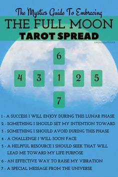 The full moon tarot spread to help illuminate your path this lunar phase. Enjoy more spreads from www.emeraldlotus.ca