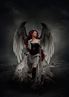 Billedresultat for fantasy dark ANGEL Skull Tatto, Neck Tatto, Gothic Angel, Gothic Fairy, Gothic Fantasy Art, Fantasy Kunst, Dark Angel Wallpaper, Guerrero Dragon, Angel Y Diablo