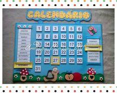Diy Calender, Kids Calendar, Preschool Prep, Preschool Activities, School Wall Decoration, Diy For Kids, Crafts For Kids, Clown Crafts, Learn Arabic Alphabet