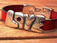 10mm first quality red leather women with sterling by kekugi, $23.00