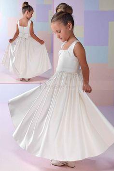 Elegant A-line Satin Flower Girl Dress