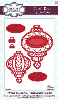 Creative Expressions Sue Wilson Die -Festive Collection - Sentimental Bauble - CED3012
