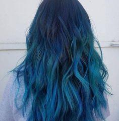 21 Ocean Hair Looks to Copy This Summer - Cabello Rubio Hair Dye Colors, Cool Hair Color, Ocean Hair, Coloured Hair, Dye My Hair, Mermaid Hair, Rainbow Hair, Hair Looks, Hair Inspiration