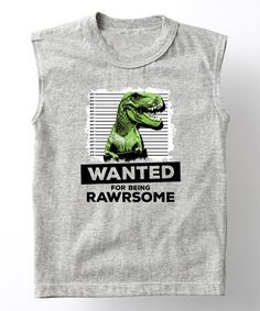 Loving this Athletic Heather 'Being Rawrsome' Muscle Tee - Toddler on #zulily! #zulilyfinds