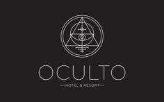 Branding for a hotel boutique http://www.behance.net/gallery/Oculto-hotel-Resort/1180743