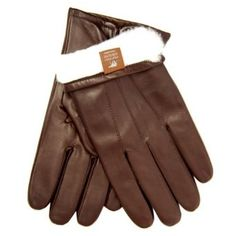 Men`s Our Bestselling Italian Rabbit Fur Lined Gloves By Fratelli Orsini Everyday