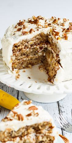Hummingbird Cake is a dense and moist southern cake flavored with pineapple, banana, and pecans. (video)