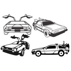Delorean 80s Back to the Future Cuttable Design Cut File. Vector, Clipart, Digital Scrapbooking Download, Available in JPEG, PDF, EPS, DXF and SVG. Works with Cricut, Design Space, Sure Cuts A Lot, Make the Cut!, Inkscape, CorelDraw, Adobe Illustrator, Silhouette Cameo, Brother ScanNCut and other compatible software.