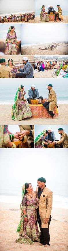 muslim wedding ceremony on the beach